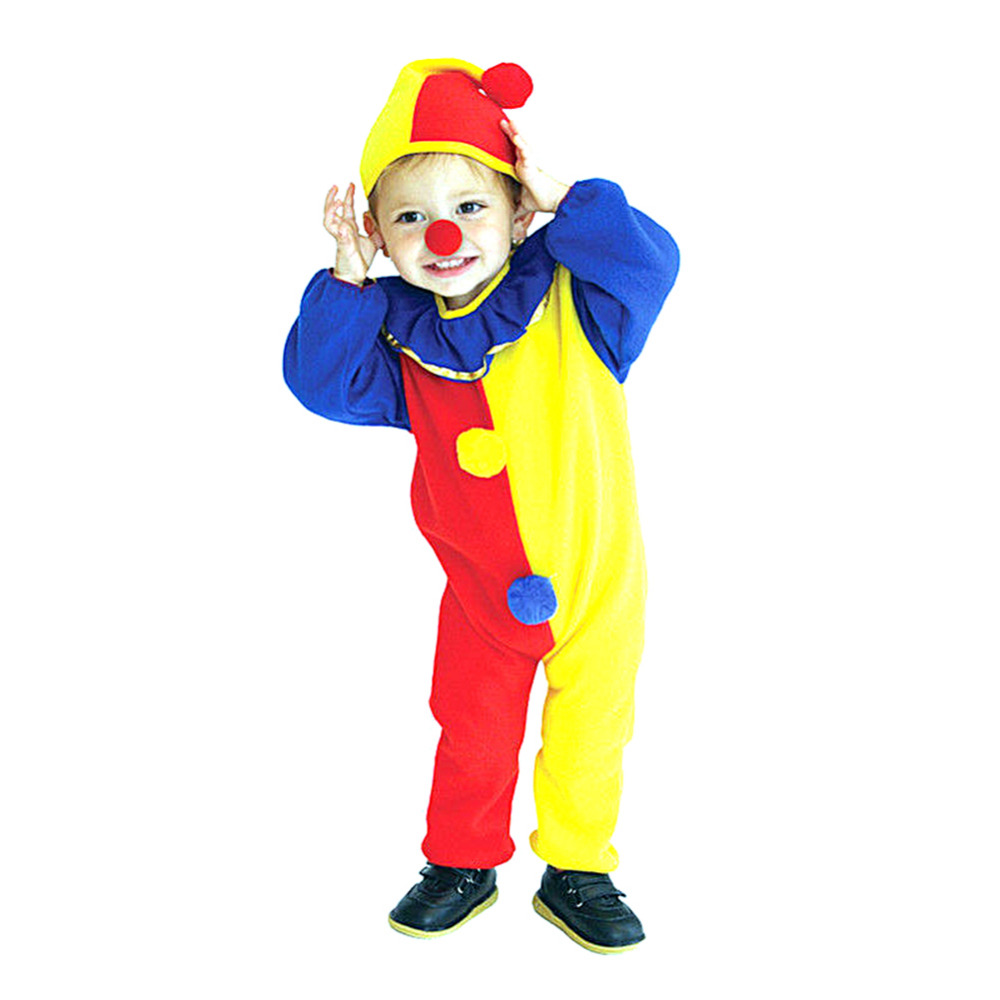 Cosplay Clown Suit Baby Kid Outfit Costume Child Fancy Clothes Props Full Set For Halloween Carnival Costume S M L Size