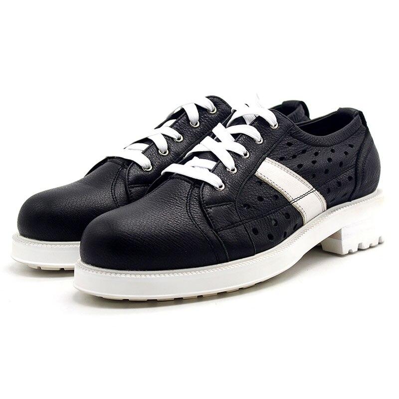 Für Plattform Teenager Atmungsaktive Marke Casual High Up Aushöhlen Schuhe Street Lace Dicke Top Heels Natur black Leder Männer Med White ZxEqg6ET