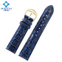 Genuine Leather Watchbands For IWC Men Pin Buckle Vintage Watch Straps Retro Watch Band For IWC