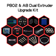 New Arrival 3D Printer Dual Extruder Upgrade Kit for Zonestar P802N P802M P802Q P802QS A8 Two Color printing Bowen extruder