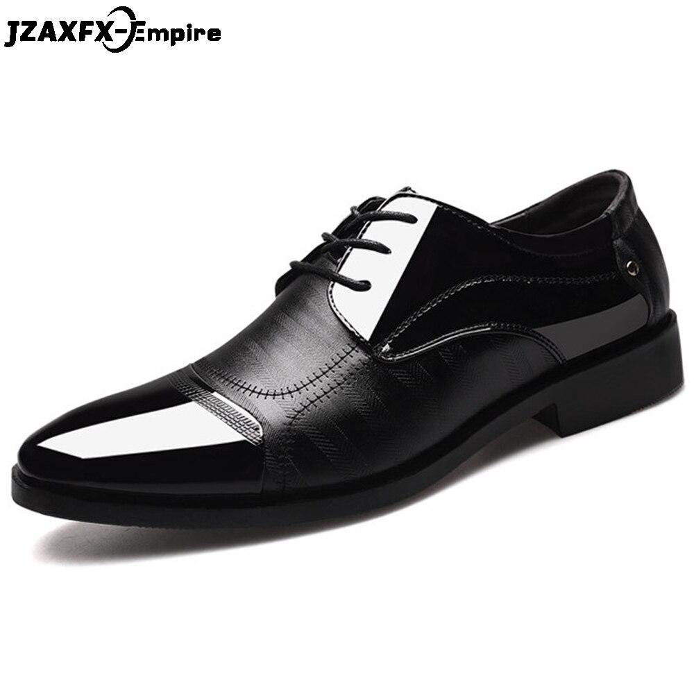Nouveau Dentelle Robe Pointu Chaussures Patchwork Cuir D'affaires Qualité En Formelle Oxford Orteils 1 Hommes up 2 Top Pour rXxH1r