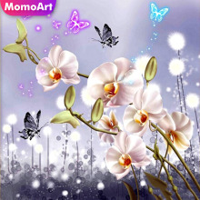 MomoArt 5D Diamond Painting Flowers Mosaic Full Square Rhinestone Embroidery Landscape Home Decoration