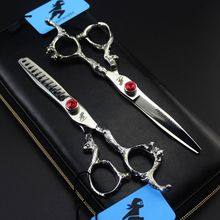 Freelander Japan Steel 5.5 inch 6 Hairdressing Scissors Hair Professional Barber Set Cutting Shears Scissor