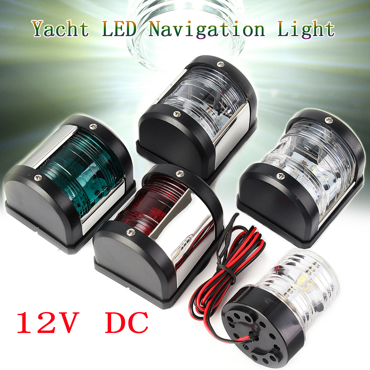 Jeazea 2pcs Dc12v 8w Green Red Marine Navigation Led Light Starboard Port Side Light For Boat Yacht Skeeter Marine Hardware