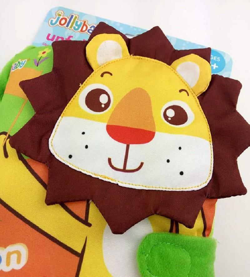 Infant Activity Book Cartoon Animal Soft Baby Educational Toy Cloth Book Plush Animal Story Intelligence Developing Toy KF030 11