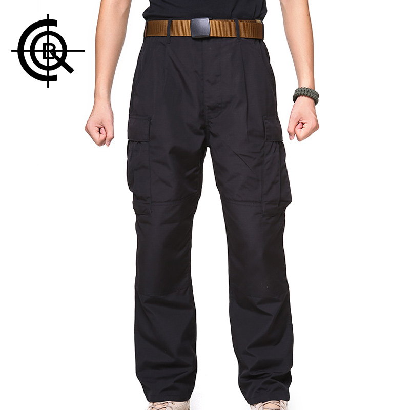 CQB Black Outdoor Tactical Wear-resisting Loose Pants Breathable Waterproof  Overalls Trekking Hiking Pants MCK0215