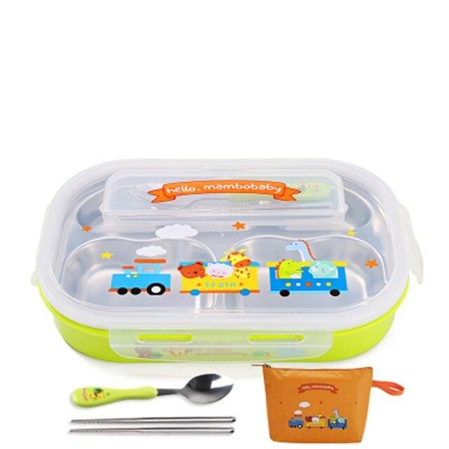 Green Spoon and bag Cheap bento boxes 5c6479e2eddf7