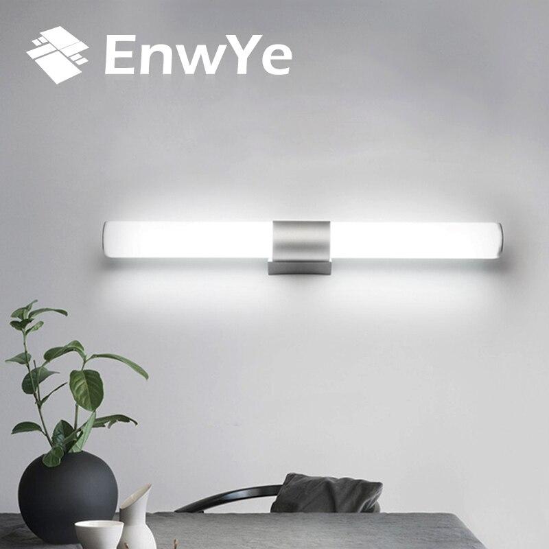 EnwYe lámparas de pared de baño espejo de led impermeable de la luz 12 W 16 w 22 W AC85-265V tubo LED lámpara de pared moderna Iluminación de baño BD71