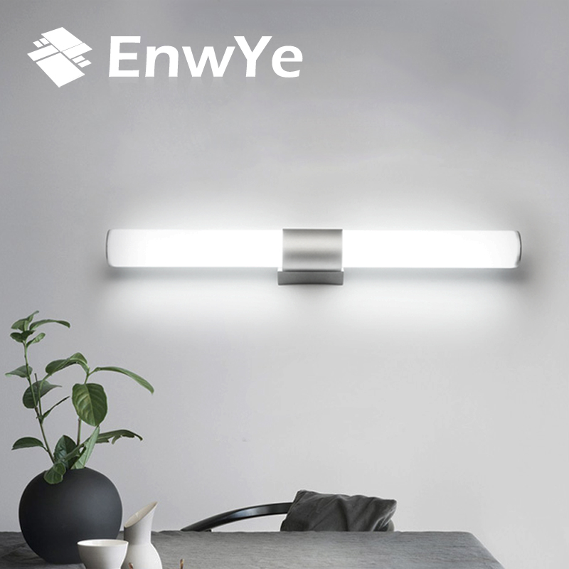 Enwye Настенные светильники Ванная комната LED свет зеркала Водонепроницаемый 12 Вт 16 Вт 22 Вт AC85-265V светодиодные трубки современный настенный светильник ванная комната Освещение bd71