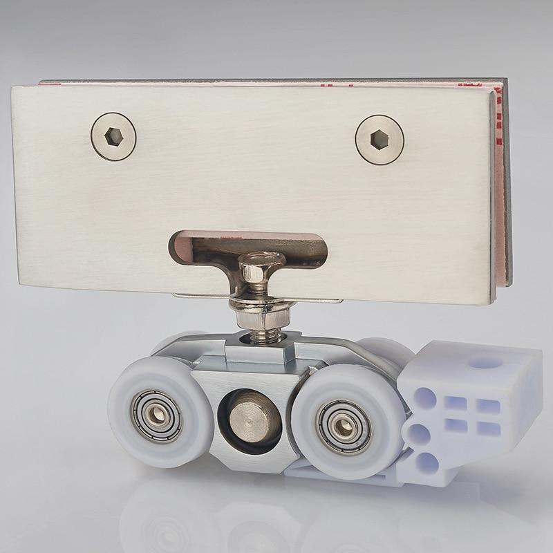Clean pulley shower room bathroom Glass door hanger Moving door 4 wheel pulley 8 shower rooms cabins pulley