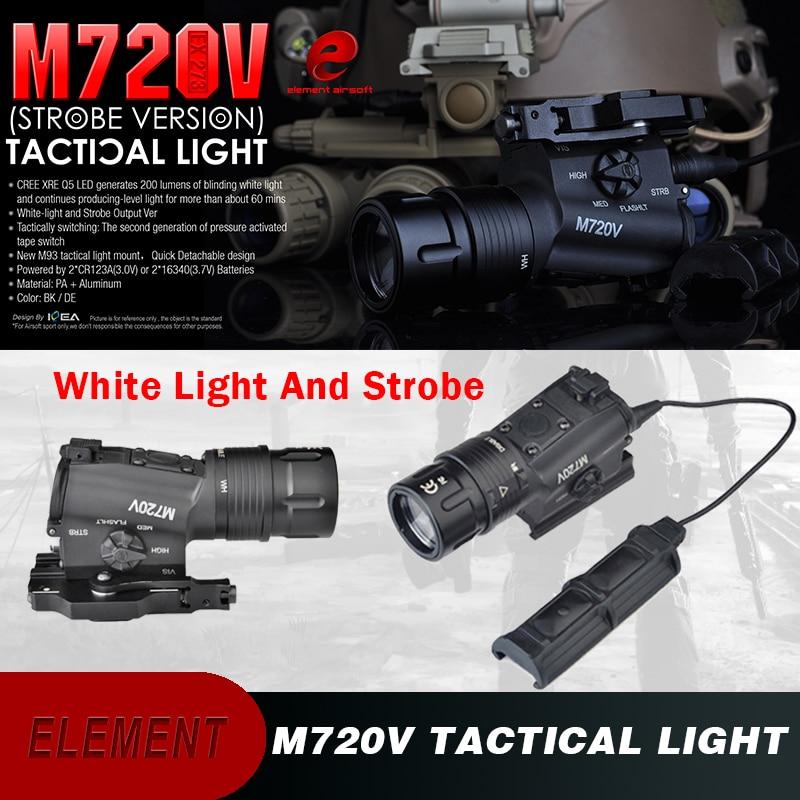 Element Airsoft Weapon Light Strobe Surefir M720V Softair 265 Lumens Tactical Light Picatnny Rifle Flashlight Softair