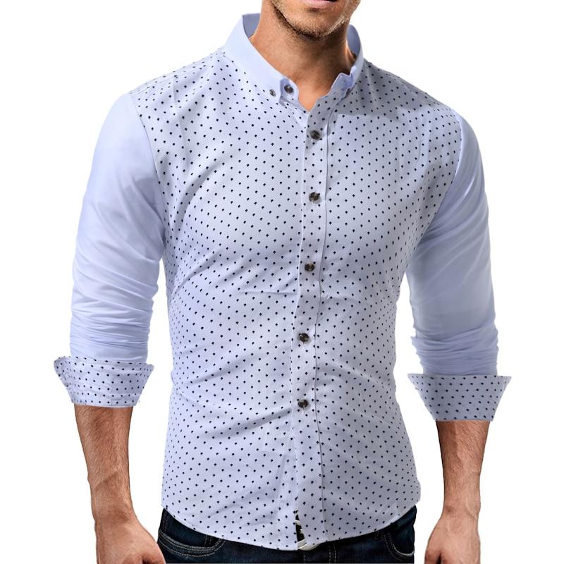 Mannen shirt 2019 zomer nieuwe mode casual lange mouw mannen - Herenkleding - Foto 1