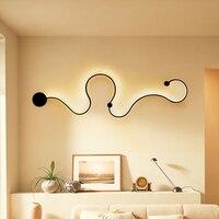 Пост современный минимасветодио дный листичный светодиодный настенный светильник прикроватный гостиная зал Прихожая лампа фон настенный