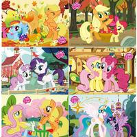 48 Pieces Of Jigsaw Puzzle Toddlers Tong Yizhi Early Childhood Puzzles Ponies Li Li Children S