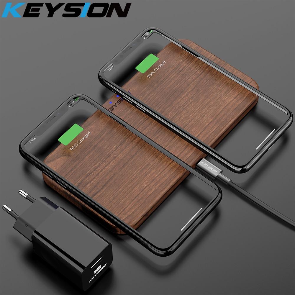 KEYSION double chargeur sans fil 5 bobines Qi chargeur rapide Compatible pour iPhone 11 Pro XS Max Samsung S10 S9 AirPods Xiaomi Mi9