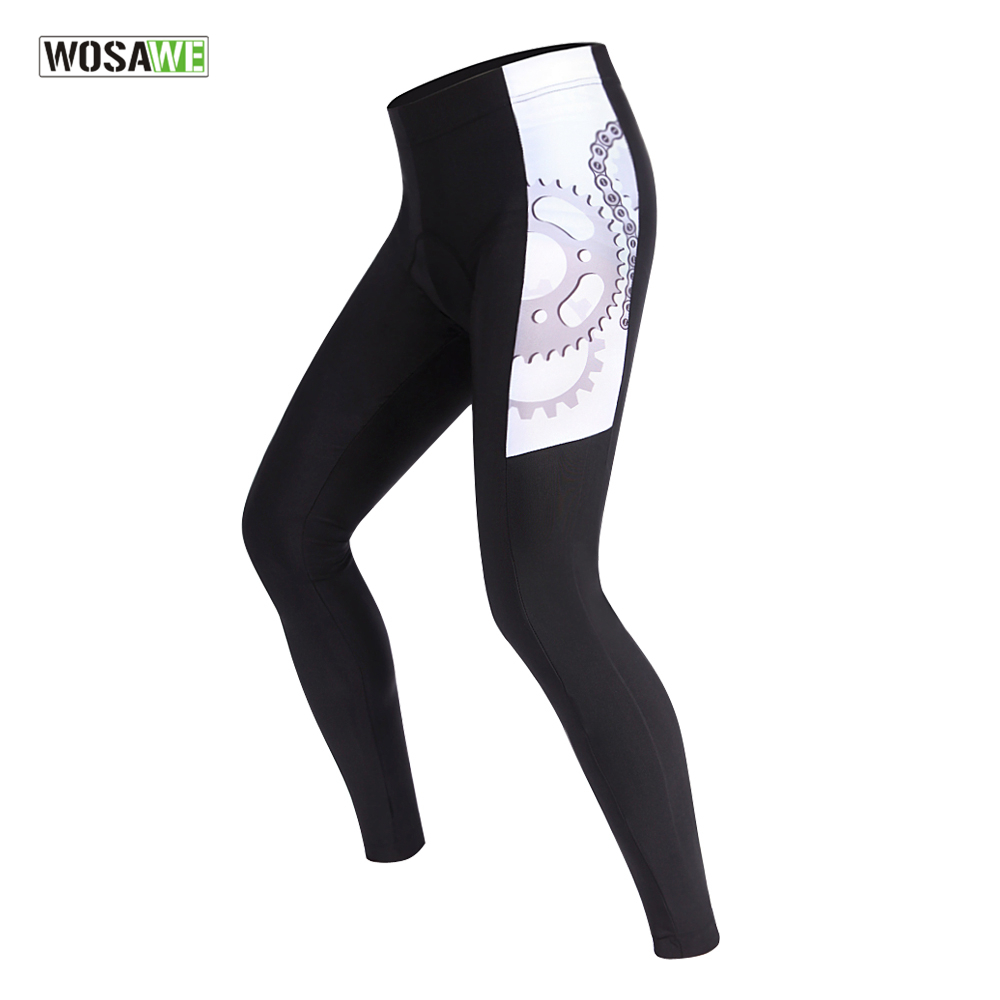 WOSAWE Spring Autumn Cycling Pants With Gel Pad Cycling Tights MTB Bike Bicycle Pants Cycling Trousers For Men and WomenWOSAWE Spring Autumn Cycling Pants With Gel Pad Cycling Tights MTB Bike Bicycle Pants Cycling Trousers For Men and Women