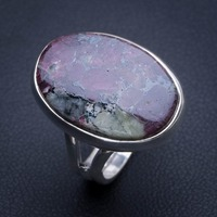 Natural Ruby Zoisite 925 Sterling Silver Ring, US Size 6 Q2780