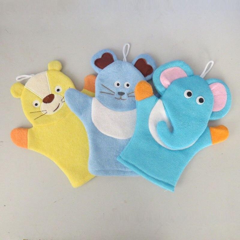 50pcs Baby Sponge Bath Rub Mitt Kids Child Bath Brush Animals Shape Bushtub Glove Hand Puppets And Bath Towel Bathroom ZA3578