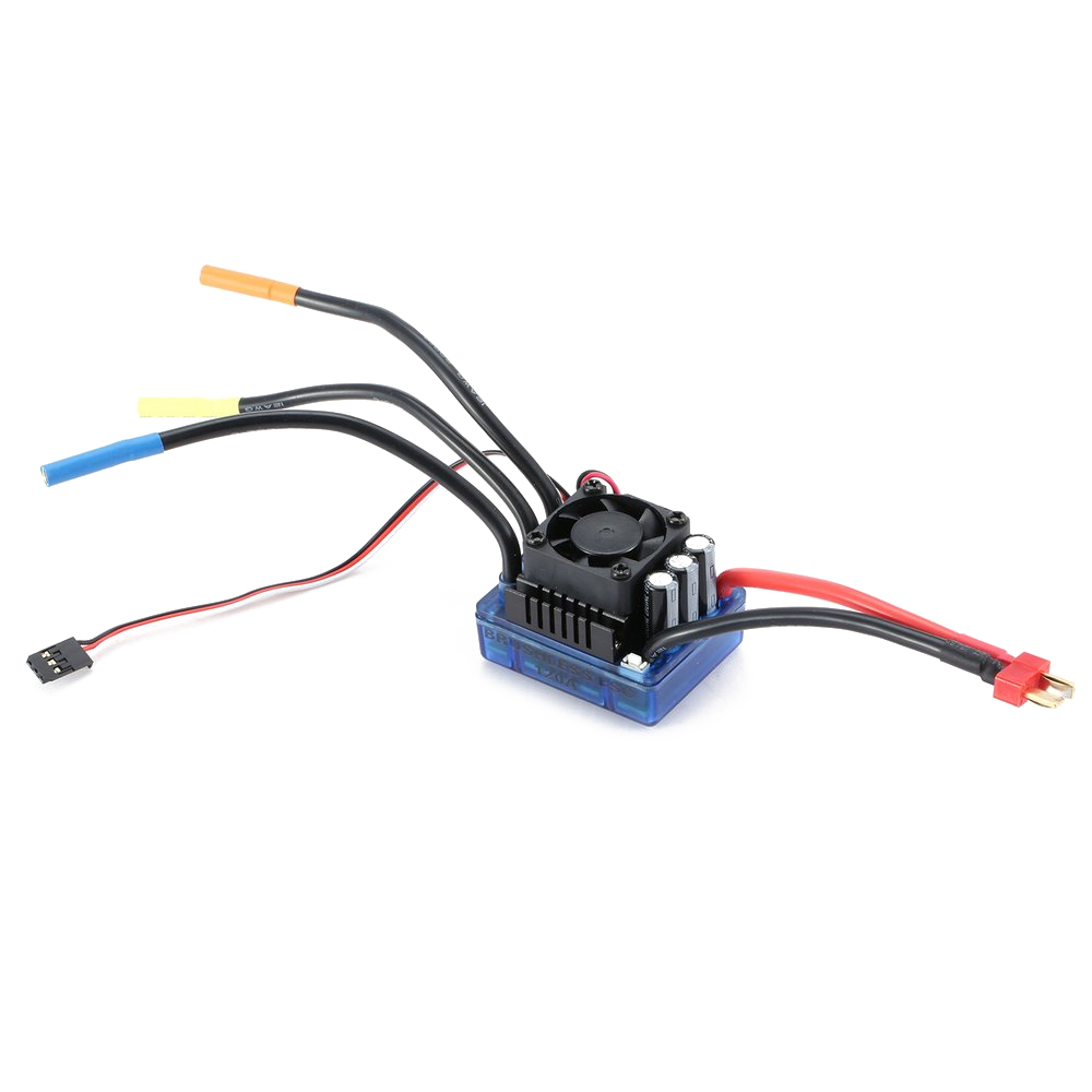 4 poles 3670 2650KV Sensorless Brushless Motor + 120A Electronic Speed  Controller Combo Set for 1/8 RC Car and Truck