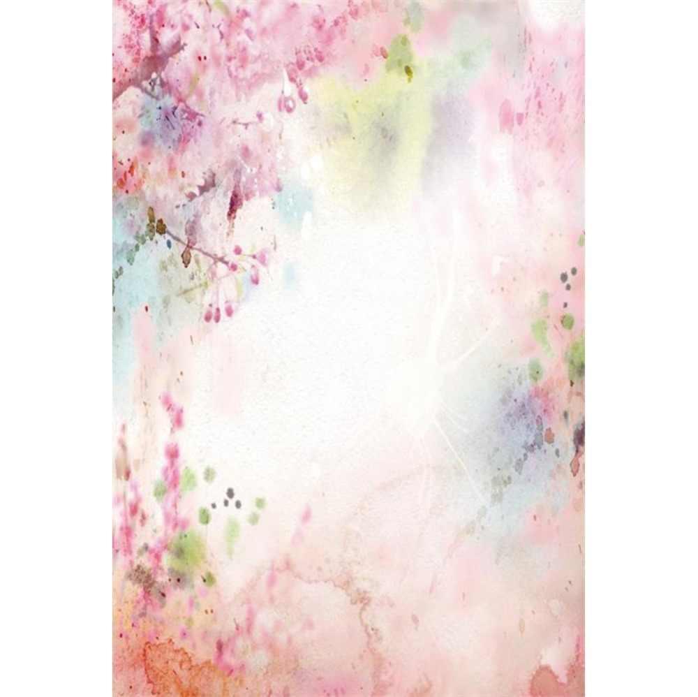 Laeacco Baby Newborn Flower Watercolor Wallpaper Home Decor