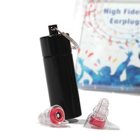 High Fidelity Musician Earplugs Silicone Noise Reduction Ear Protection With Carrying Case For Concert Travel Motorcycle