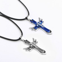 ФОТО beautiful plan city fashion jewelry man woman accessories angel wing couple pendant necklace gifts for lovers jewelry