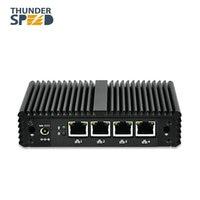 Fanless Mini PC 4 LAN Port Intel J1900 Mini Desktop Computer Barebone 12V Linux Pfsense NUC LAN DHCP DNS Server Firewall Router