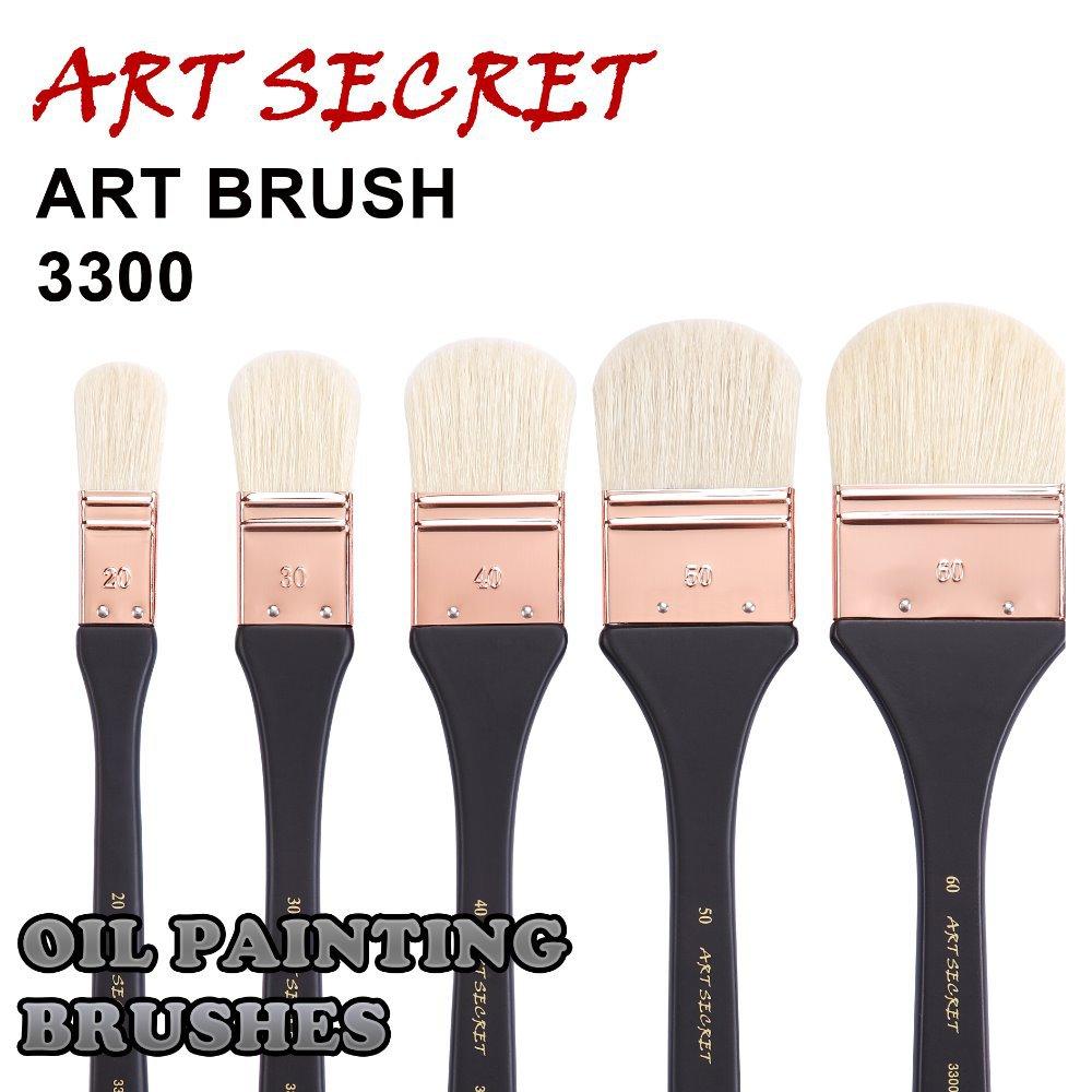 High Quality Paint Brushesoil Art Brush Wash 3300 Chungking White Bristle Long Wooden Handle