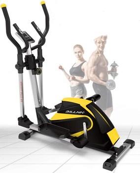 Stacjonarne rowerowa rower treningowy dla domu regulowany fotel trenażer eliptyczny orbitrek eliptyczny maszyna z monitorem pracy serca tanie i dobre opinie YAOSEN 160kg Yellow Black