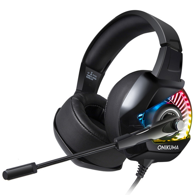 ONIKUMA K6 Gaming Headset casque Stereo Game Headphones Earphone with Mic RGB LE