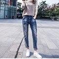 Nuevos vaqueros de las mujeres de primavera ropa vaquera jeans pantalones pies pantalones Harem loose Regular panty