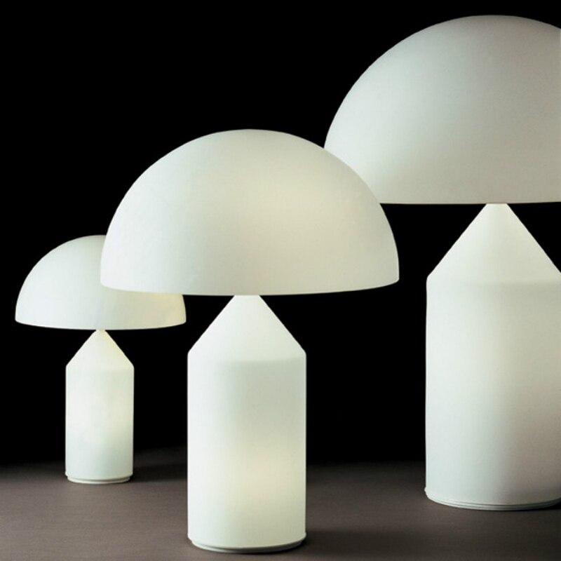 Moderne métal champignon Led lampe de Table plaque chevets lampe de lecture déco Led lampe de bureau pour salle d'étude