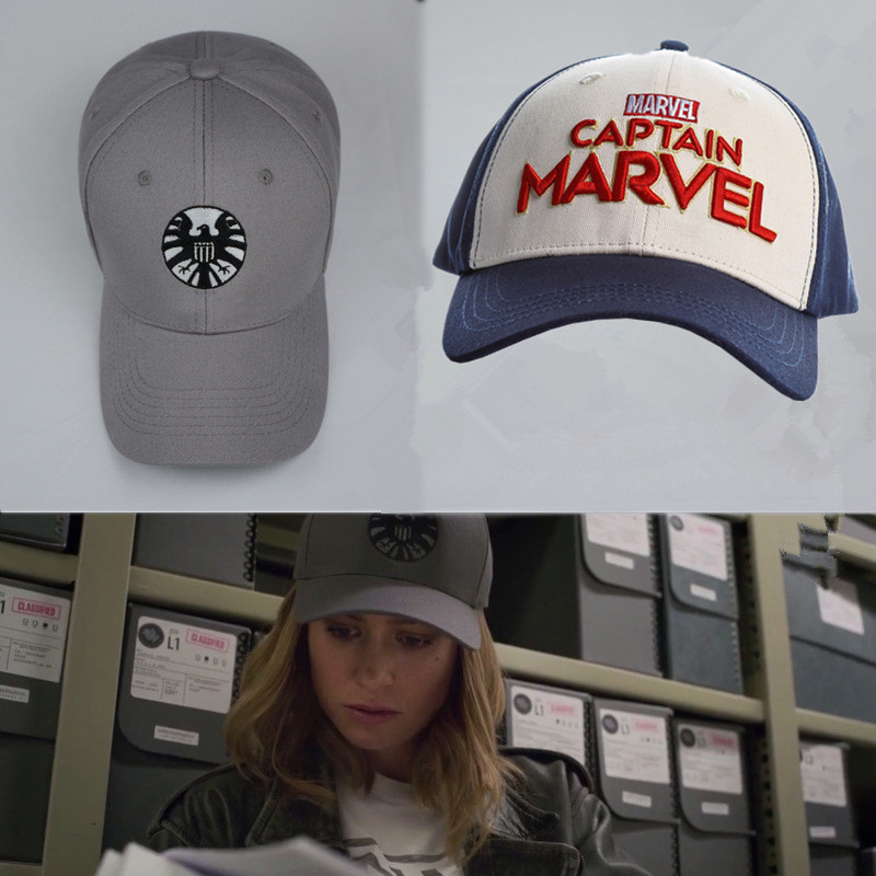 WXCTEAM Captain Marvel Carol Danvers Cosplay Baseball Caps Adjustable Hip Hop Embroidery Hat