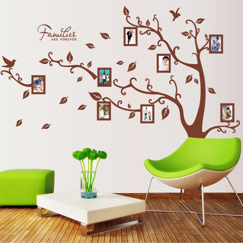big family tree forever photo frame wall sticker living room bedroom