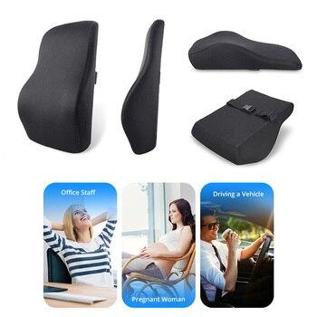 AUTOYOUTH coussin de soutien lombaire en mousse à mémoire de forme avec couverture en maille 3D fermeté équilibrée conçue pour soulager les douleurs au bas du dos