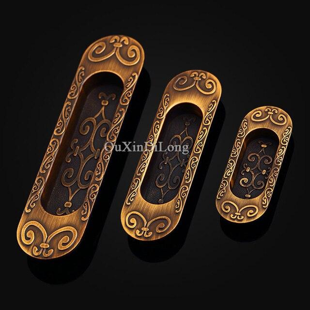 Versteckte Schiebetür 10 stücke schiebetür schrank möbelgriffe europäischen antiken