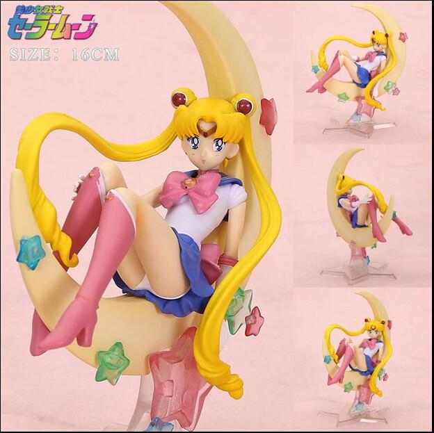 Sailor Moon Figure Set Tsukino Usagi PVC Action Figure Collectible Model Sailor Moon Figure Toy 150MM Anime Sailor Moon Toys anime cartoon zero pretty guardian sailor moon tsukino usagi 20th anniversary pvc action figure collectible toy 21cm