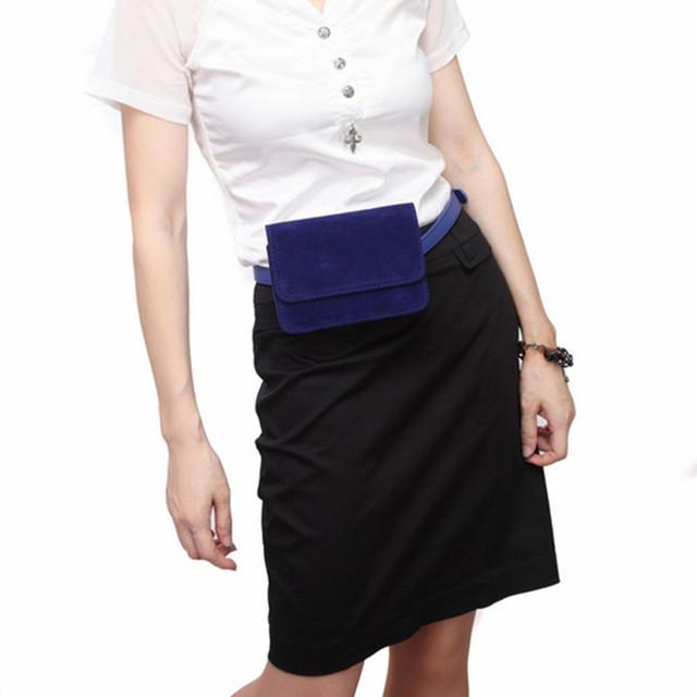 Nueva Velvet Fanny Paquete de Mini Cintura Cinturón de Dinero Bolso Monedero de Las Mujeres En Forma de Bolsa para Promotores de Merchandising Vendedor