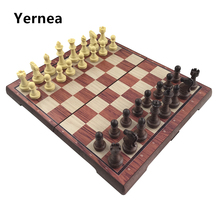 Yernea High-grade Chess Plastic Folded Board International Magnetic Chess Set Exquisite Chess Puzzle Games Board Game Gift