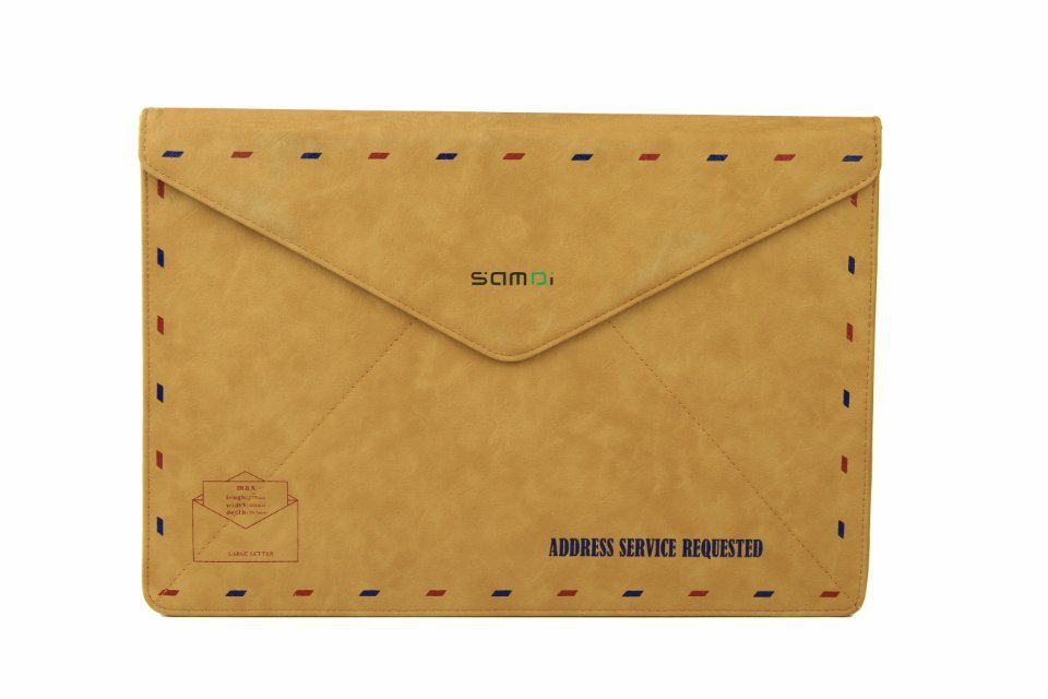 Nueva funda protectora de la manga del bolso del sobre de cuero retro - Accesorios para laptop - foto 6