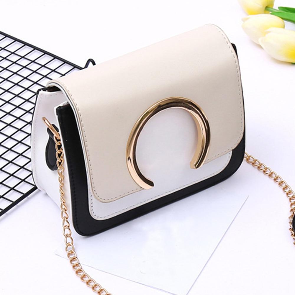Women Bag Fashion Ring Decoration Patchwork Crossbody Shoulder Sac Main Femme Bags For Women 2019 Schoudertas Dames