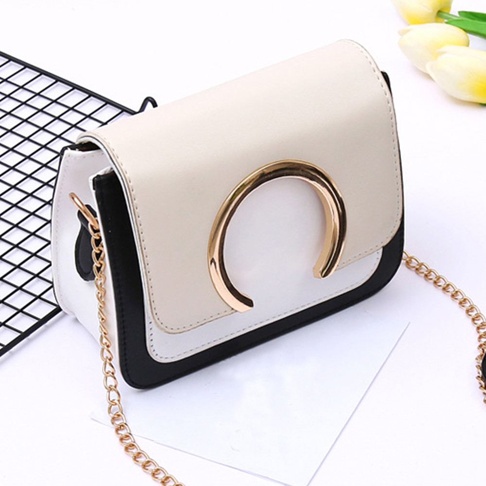 Women Bag Fashion Ring Decoration Patchwork Crossbody Shoulder Sac Main Femme Bags For Women 2019 Schoudertas Dames