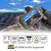 DP500IIIS A50TLS 5 FHD сенсорный экран полевой монитор дисплей 3D LUT, 3g SDI и HDMI 4 K вход/выход для камеры sony A7SII gh5