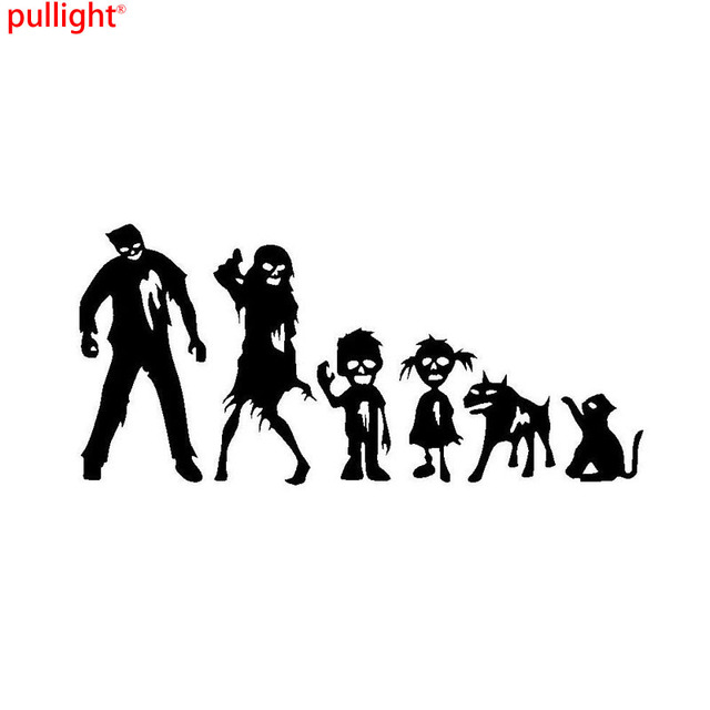198 8cm funny zombie family car sticker personalized motorcycle vinyl decals