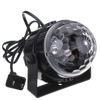 Mini RGB LED Crystal Magic Ball Stage Effect Lighting Lamp Party Disco Club DJ Light Show