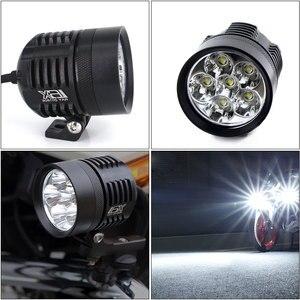 Image 3 - 2X 12000Lm לבן/צהוב אופנוע LED פנס עמיד למים נהיגה ספוט ראש מנורת ערפל אור מנוע אביזרי 6000K/3000K 12V