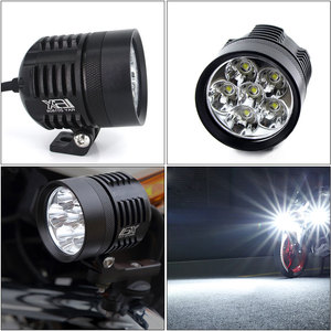 Image 3 - 2X 12000Lm white/Yellow Motorcycle LED Headlight Waterproof Driving Spot Head Lamp Fog Light Motor Accessories 6000K/3000K 12V