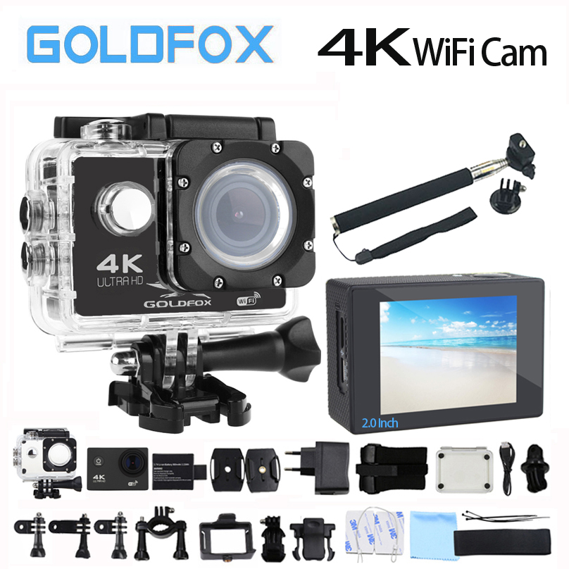 Goldfox H9 Style Action Camera Ultra-HD 4K 30fps 170D Wifi Sport Action Camera 30M Go Waterproof Pro Bike Helmet mini camera DVR