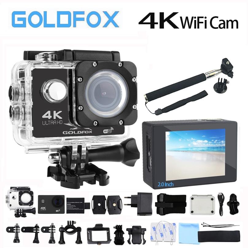 Goldfox H9 Стиль действие Камера Ultra HD 4 К 30fps 170d Wi-Fi спорт действий Камера 30 м Go Водонепроницаемый pro велосипед шлем Мини Камера DVR