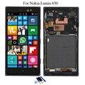 5.0 ''para nokia microsoft lumia 830 lcd pantalla táctil con digitalizador + frame asamblea completa con herramientas, envío Gratis